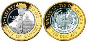 2000-Library-of-Congress-Commemorative-Bimetallic-Ten-Dollar-Coin