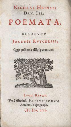 Nikolaes_Heinsius_the_Elder,_Poemata_(Elzevier_1653),_title_page