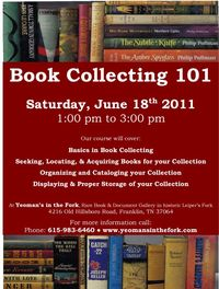 Yeoman's Book Collecting Class Flyer